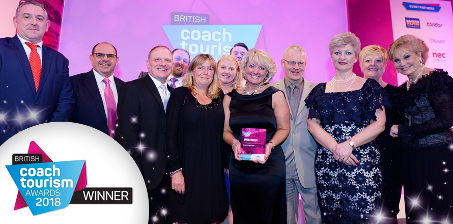 Winner at the British Coach Tourism Awards
